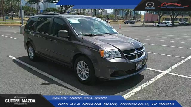 Cutter Dodge Honolulu >> Pre Owned 2016 Dodge Grand Caravan Sxt Fwd Mini Van Passenger